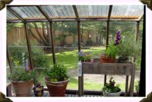 attached greenhouse/solarium
